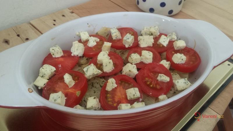 Fenykl zapečený s rajčaty