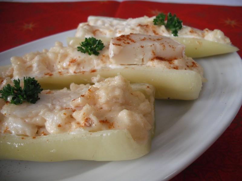Paprikové lodičky s kozím sýrem