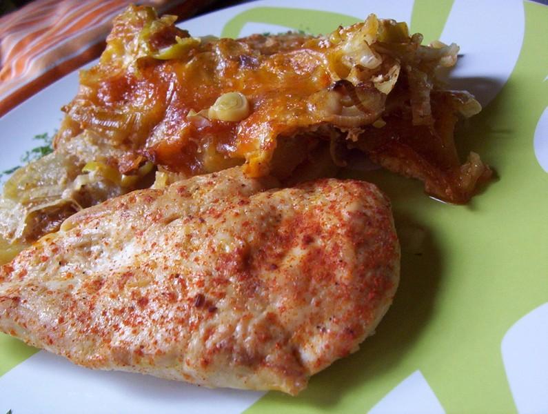 Bramborový pekáček s kuřecím