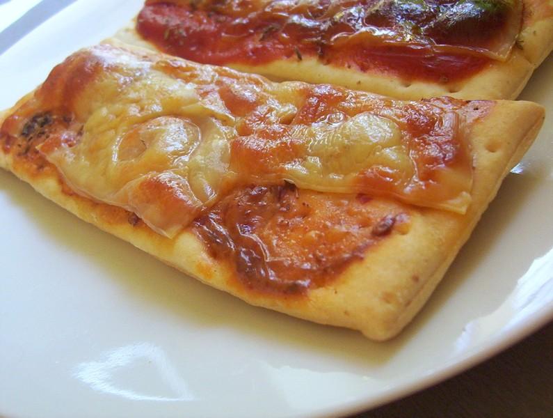 Sýrové pizza plátky
