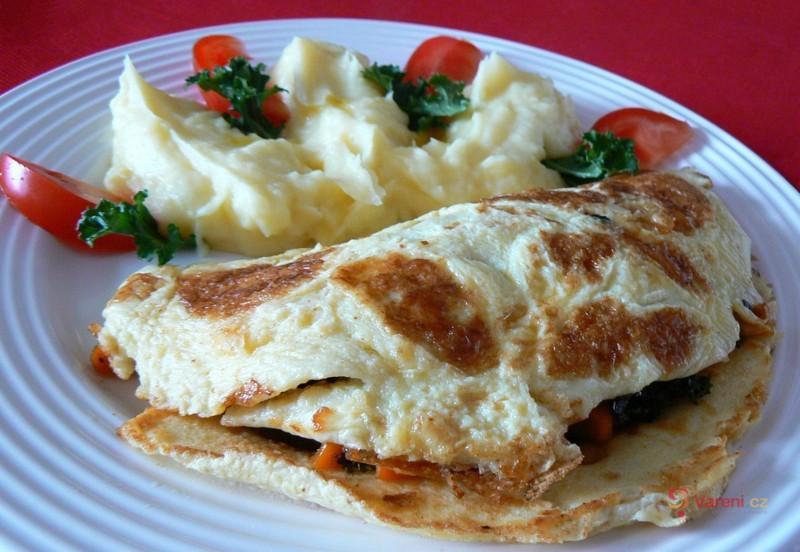 Vaječná kapsa se zeleninou