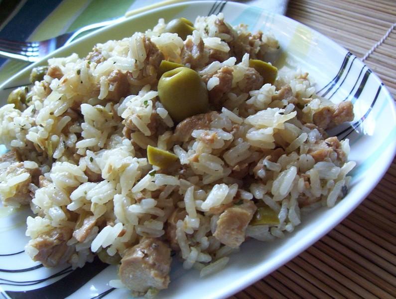 Sójové rizoto s olivami