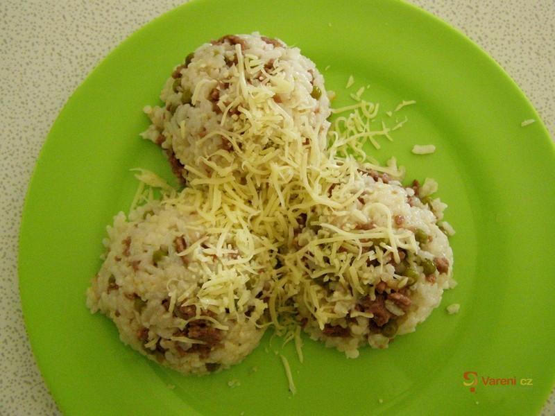 Rizoto sypané sýrem