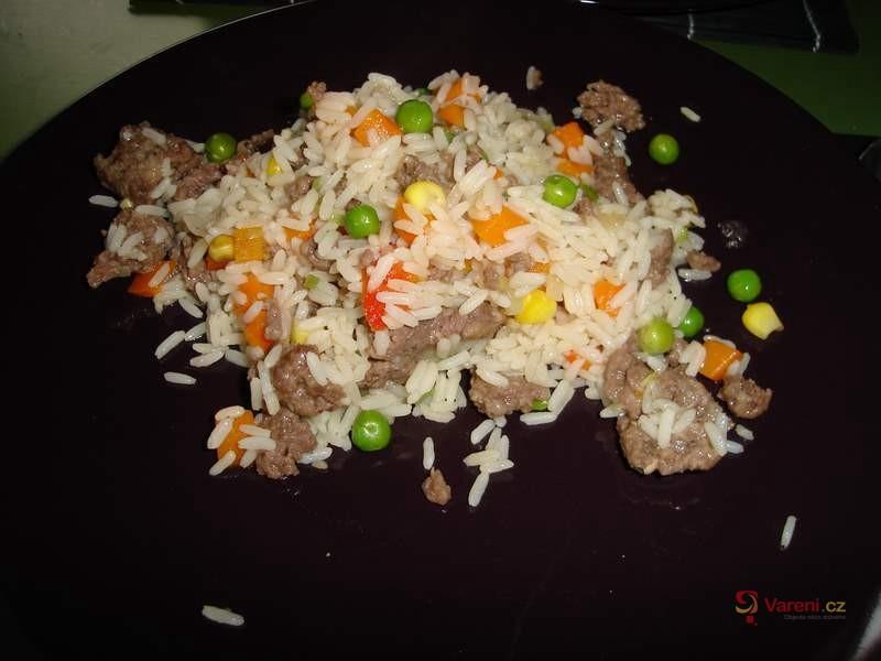 Rychlé rizoto z mletého masa