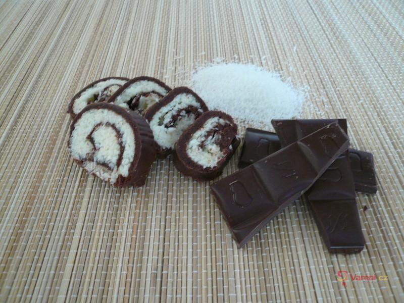 Čokoládová kokosová roláda