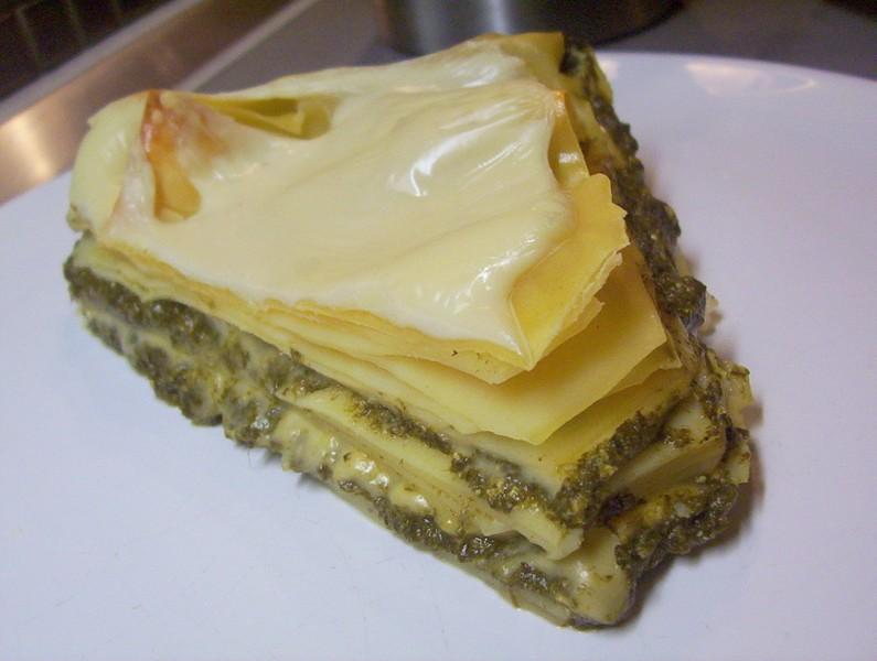 Špenátové lasagne se sýrem