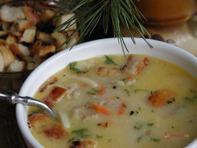 Jemná polévka z rybího filé