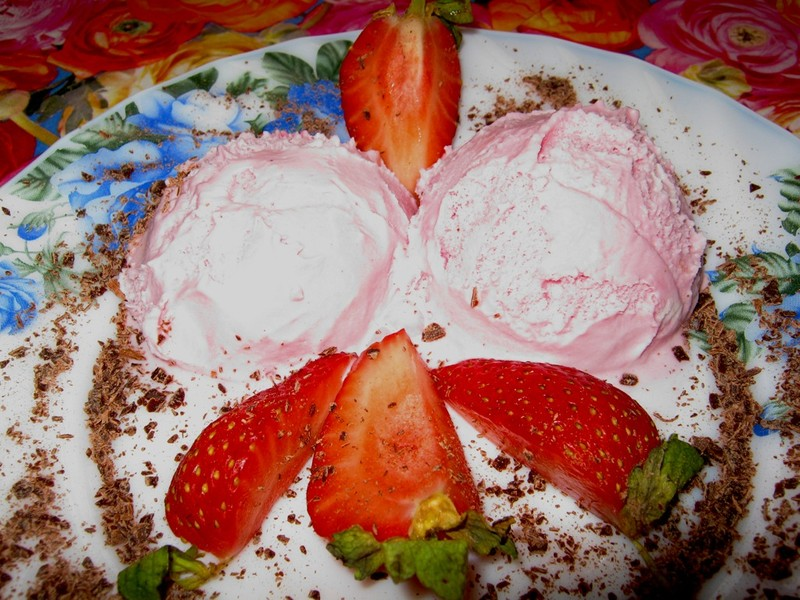 Zmrzlina z jahod