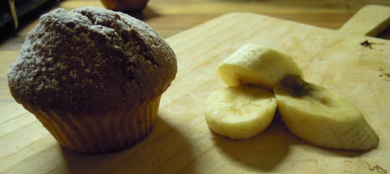 Banánovo-oříškové muffiny s nutellou