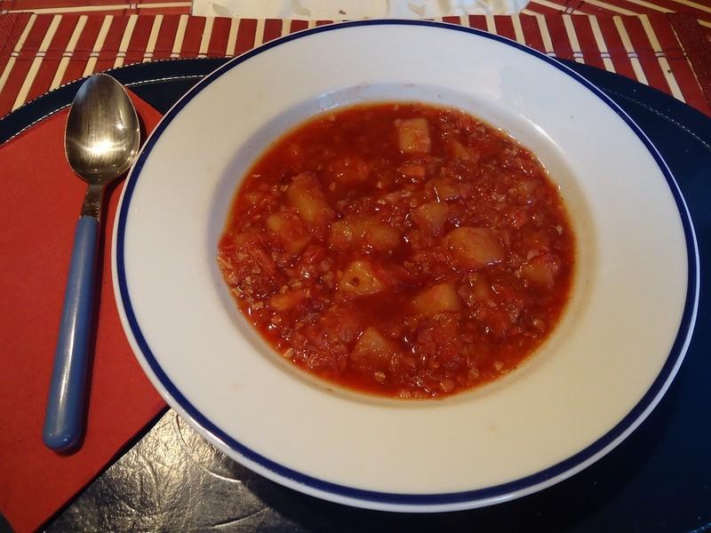 Pohanková polévka s řepou