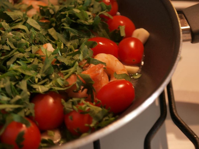 Těstoviny s krevetami