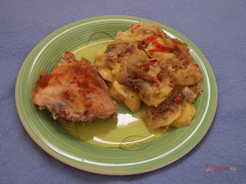 Kuře na zelenině