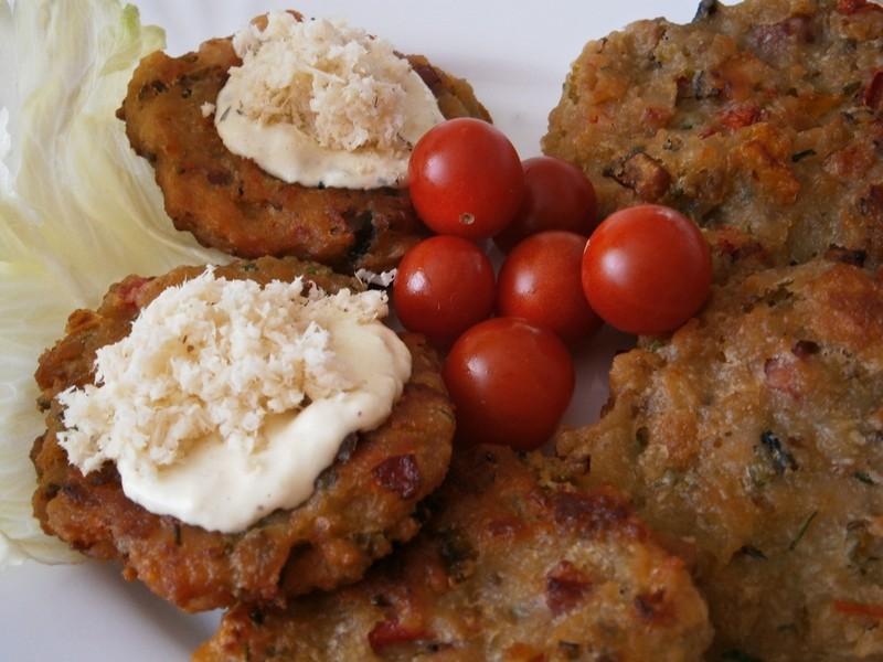 Chlebovo-zeleninové bramboráčky