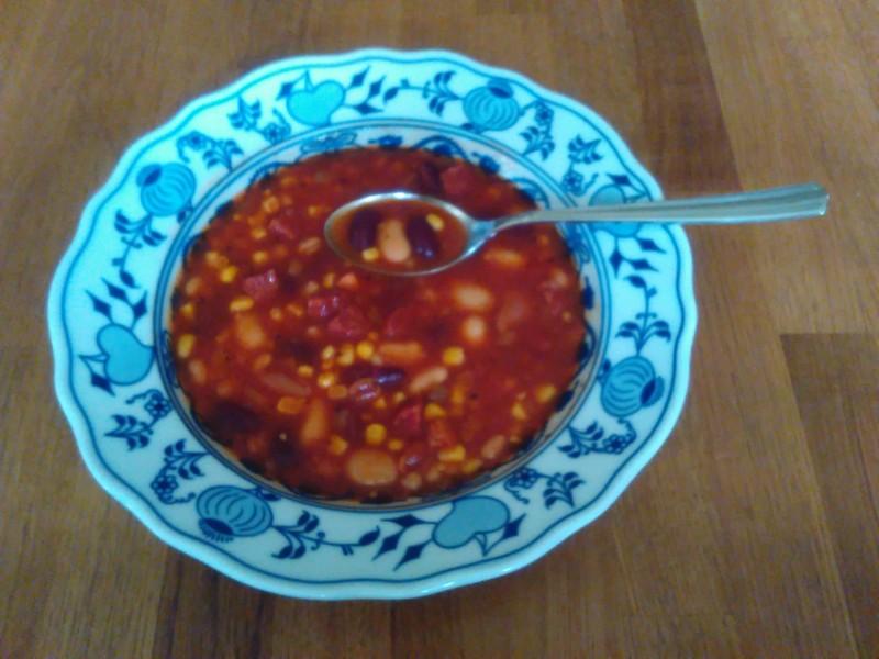 Jednoduchá mexická fazolová polévka