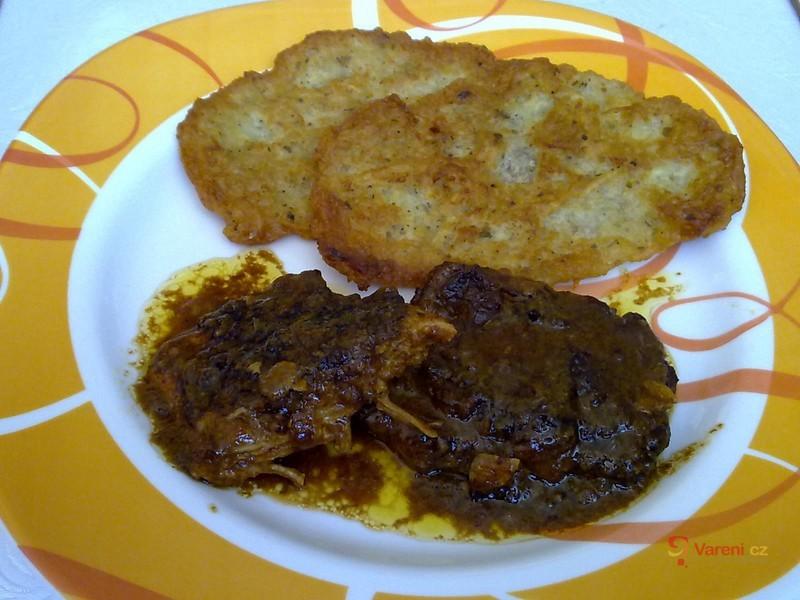 Roštěnky na slanině, houbách a celeru