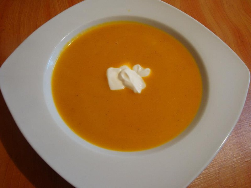 Lehká dýňová polévka