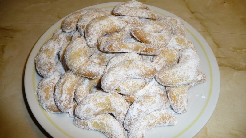 Vánoční vanilkové rohlíčky