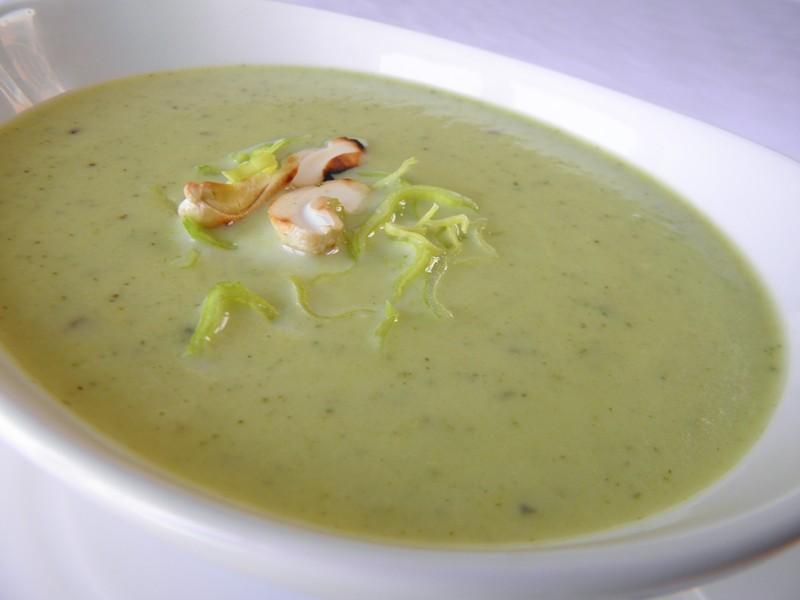 Krémová polévka z pórku a cukety