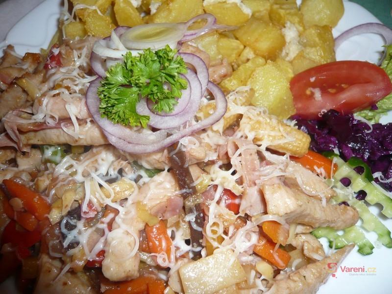 Míchané maso se zeleninou