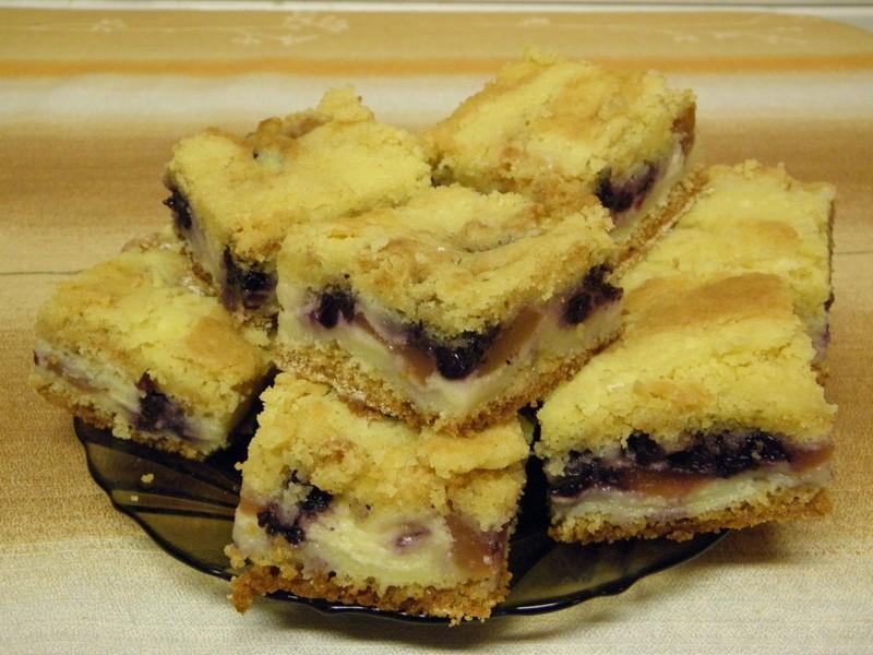 Borůvkový švédský koláč