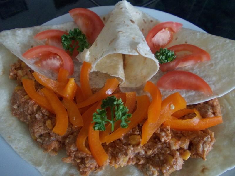 Tortilla s mexickou masovou směsí