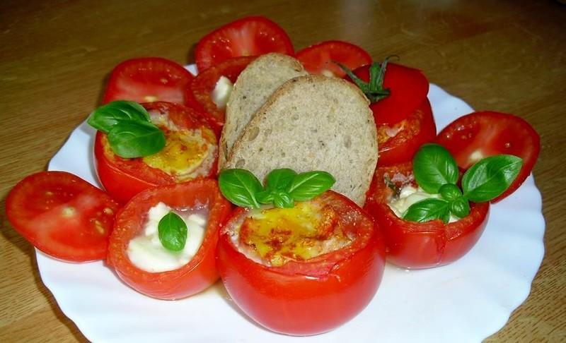 Plněná rajčata ve středomořském stylu