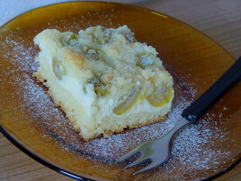 Angreštový koláč s tvarohem