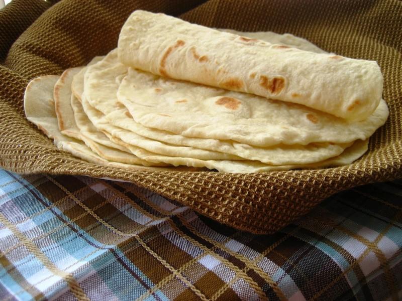 Domácí tortilly se sádlem