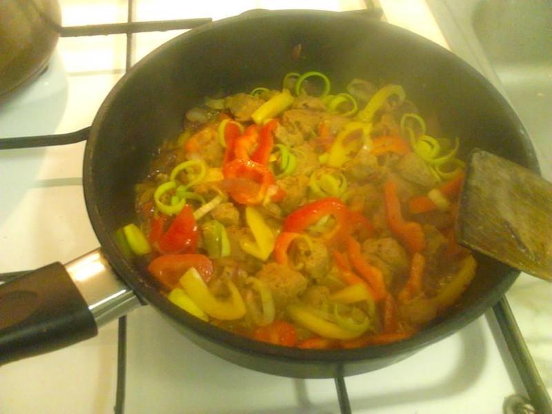 Zeleninová směs se sojovým masem
