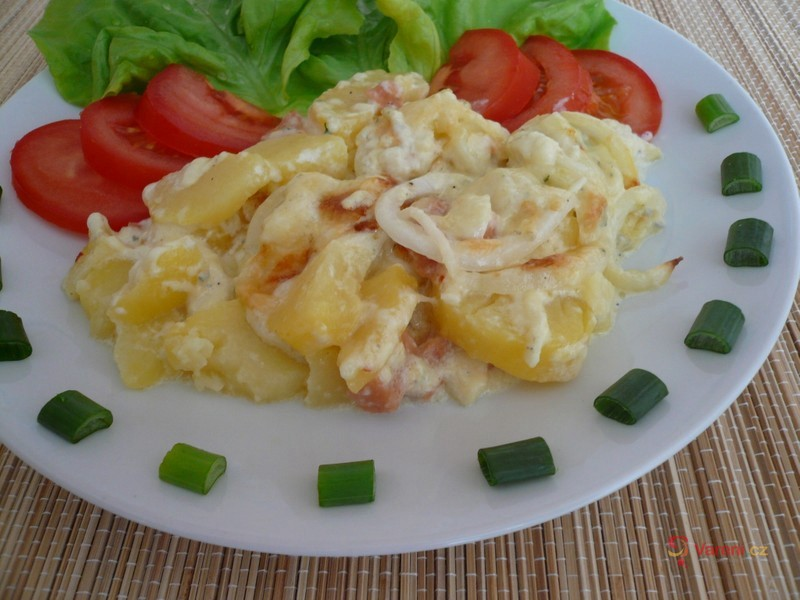 Smetanové brambory s nivou