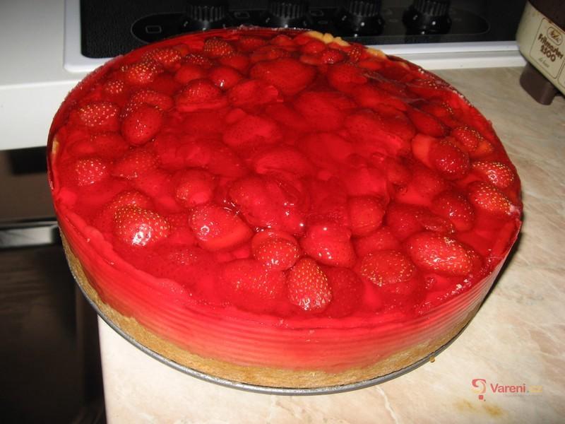 Jahodovo-tvarohový dort