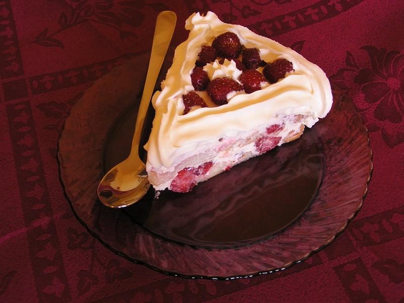 Rychlý nepečený jahodový dort