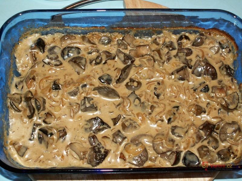 Pečené smetanové houby