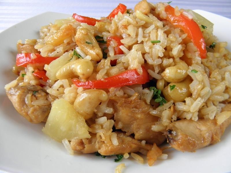 Kuřecí rýžová směs