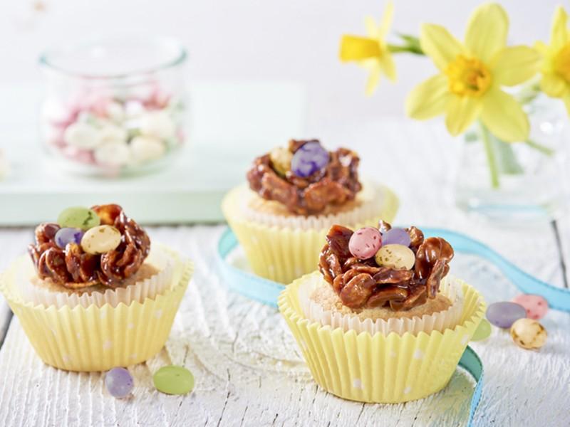 Cupcakes s čokoládovými hnízdy