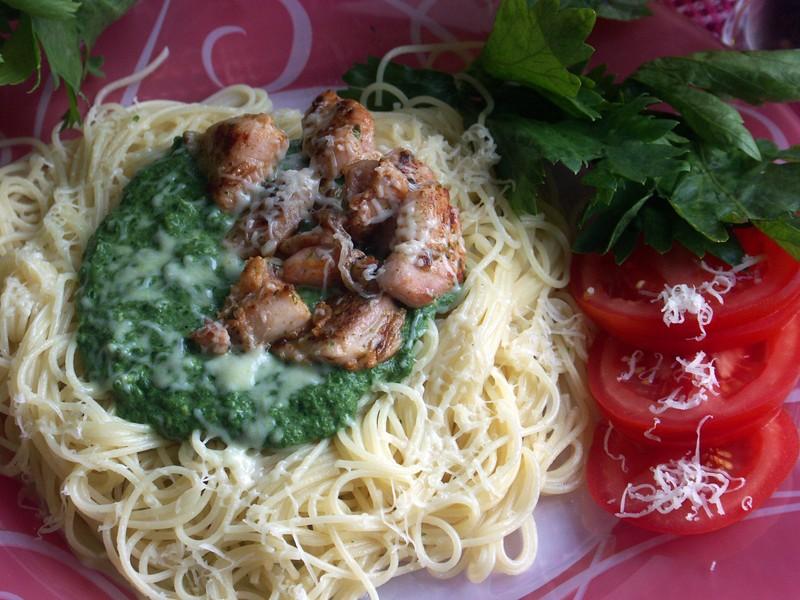 Těstoviny Spinaty