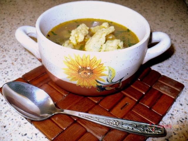 Polévka se sýrovými noky