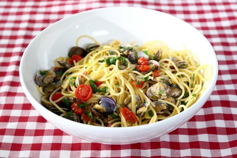 Spaghetti s mušlemi vongole
