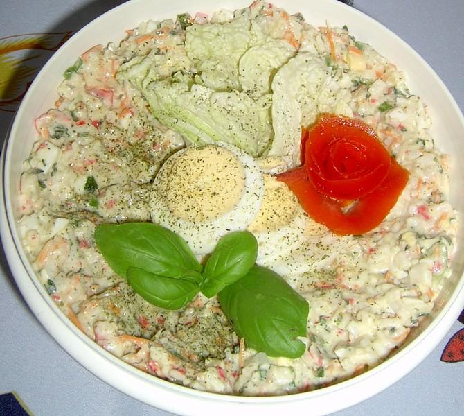 Krabí salátová pomazánka