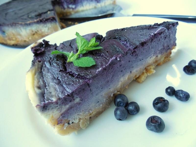 Jemný borůvkový cheesecake