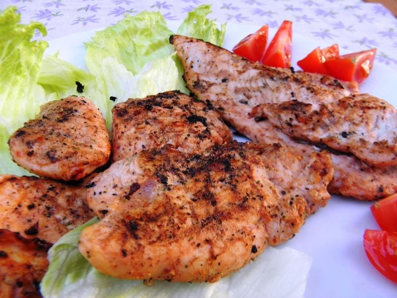 Krůtí steak z grilu