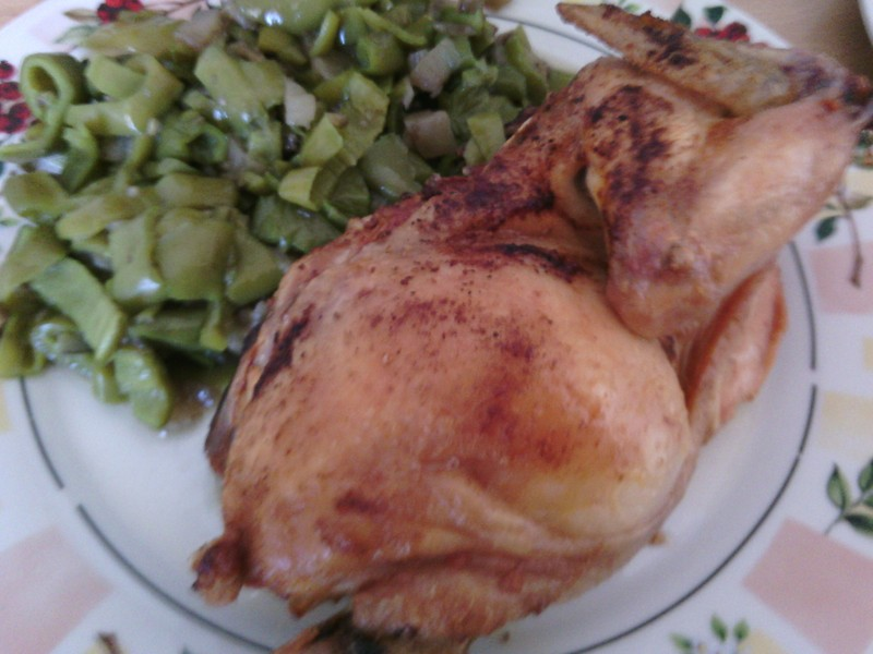 Pečené kuře s medem a pomerančovou šťávou