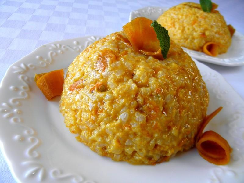 Rýžový dezert s dýní a sirupem