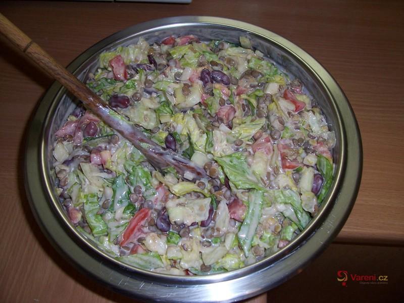 Fazolový salát s čočkou