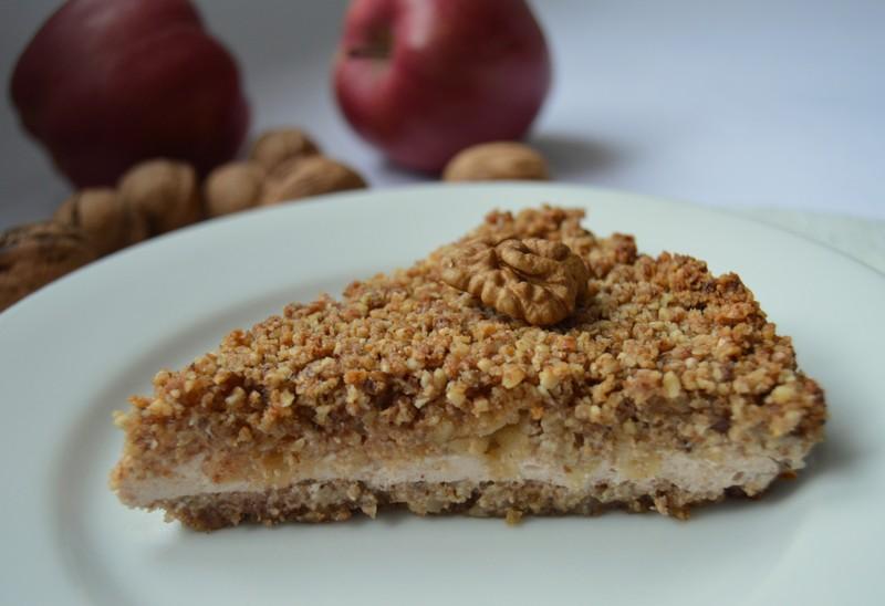Bezlepkový ořechový koláč