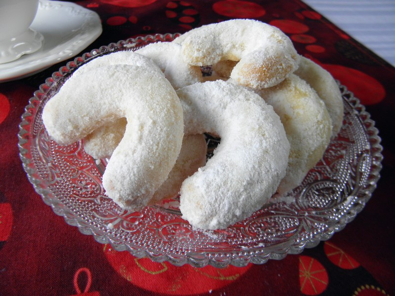Vanilkové rohlíčky z loupaných mandlí