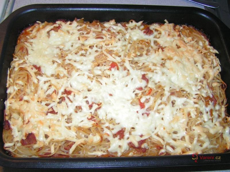 Rychlé zapečené špagety