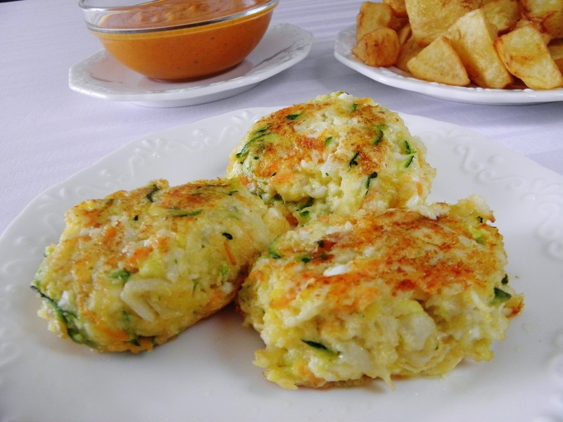 Smažené zeleninovo-sýrové placičky