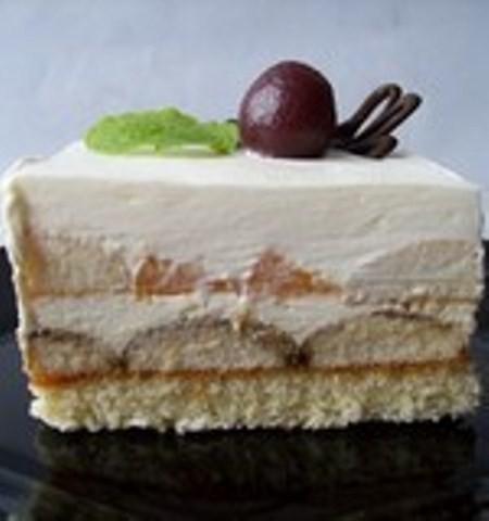 Ovocný mražený dort