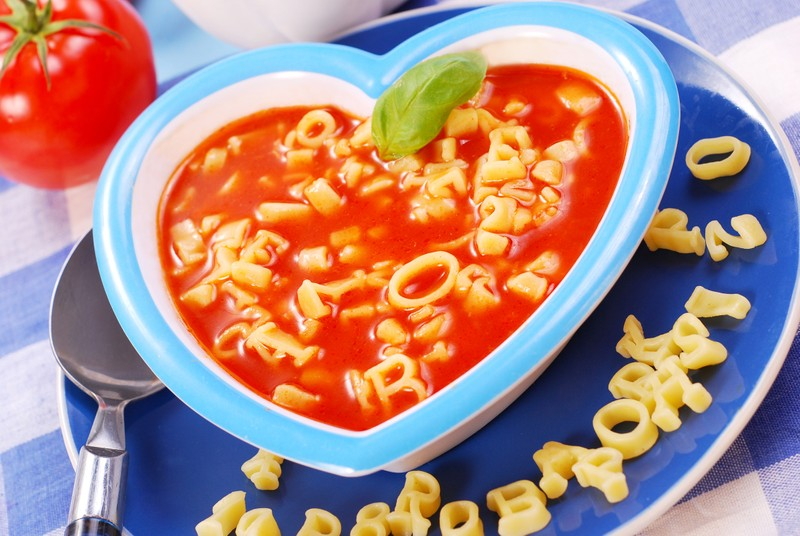Rajská polévka s písmenky